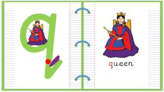 Lowercase Alphabet Letter Q Learn to Read and Write