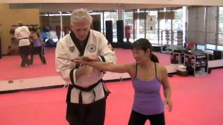 Hapkido Defense Against Knife Attack - Back Slash