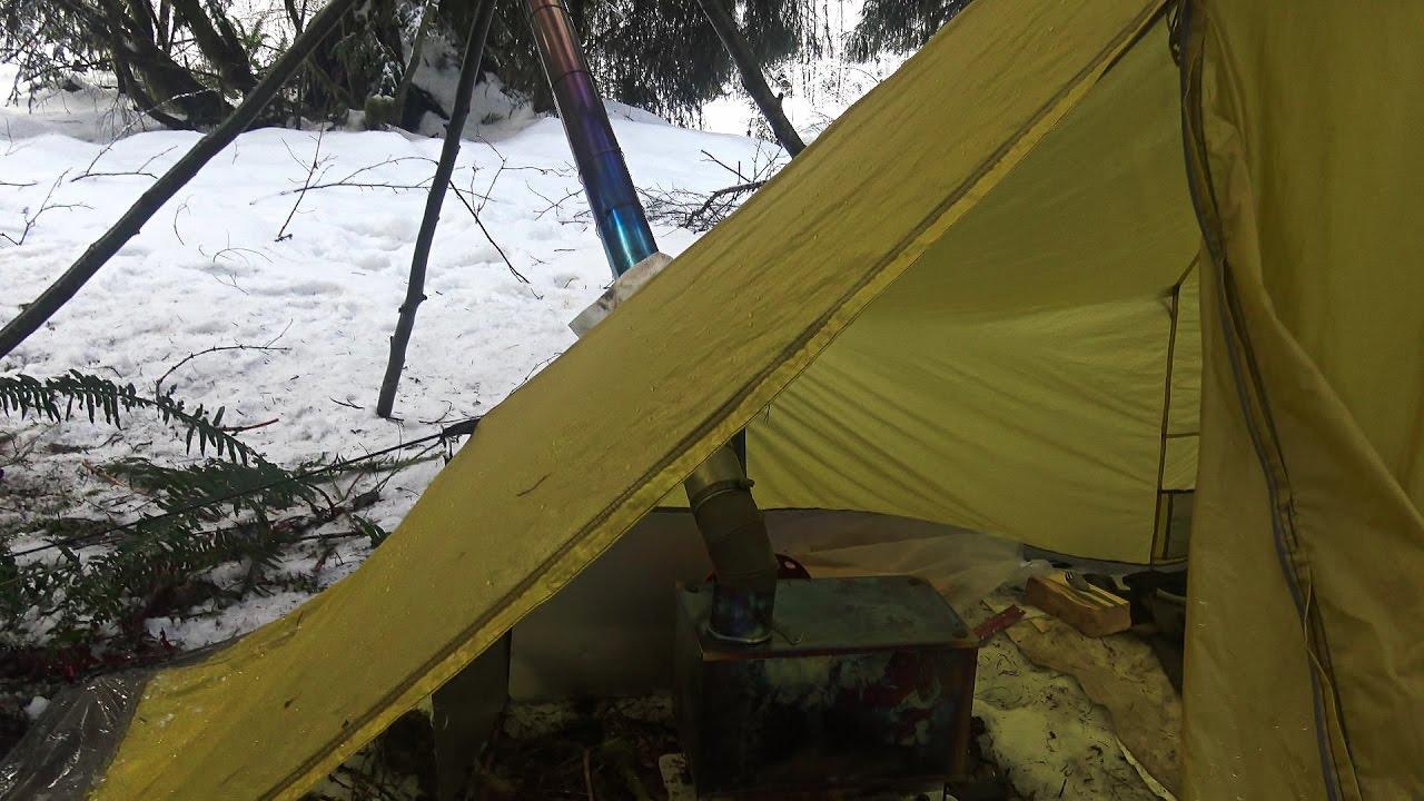 Hammock Hot Tent Winter Snow Shelter Camping - YouTube
