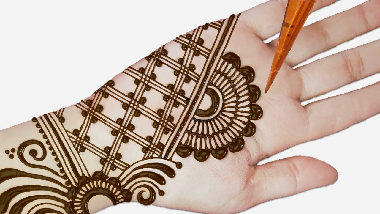 front hand easy simple mehendi design