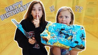 I GAVE MY SISTER AN EXPLODING BIRTHDAY CAKE FOR HER 11th BIRTHDAY!!