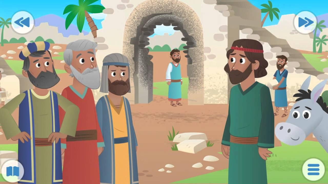 Historia Nehemiah cuenta historia para iglesias de niños