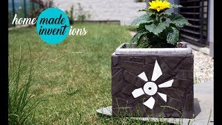How to make a New ornamental pot on the terrace - Homemade inventions