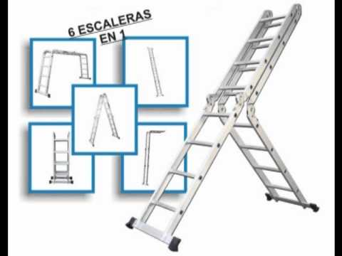 Escalera multiusos de aluminio doovi for Escaleras kotas