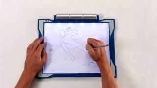 Crayola Light Up Tracing Pad Demo Youtube