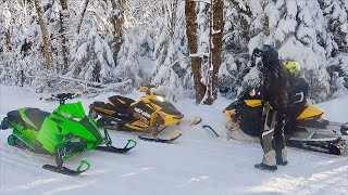 Скачать RACING HIS SNOWMOBILE BROKE AGAIN NEW EXHAUST SOUND