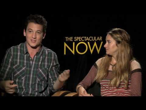 THE SPECTACULAR NOW Interviews: Shailene Woodley and Miles Teller sit down with Andrew Freund