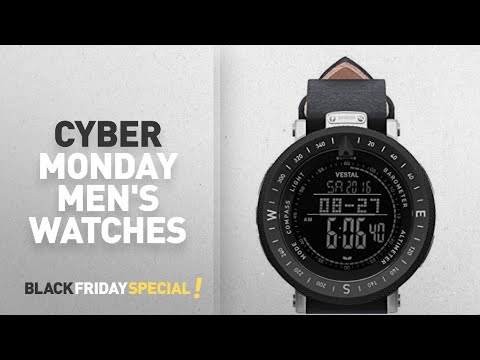 Cyber Monday Vestal Watches : Vestal Men's 'Guide Makers' Quartz Stainless Steel And Leather Dress