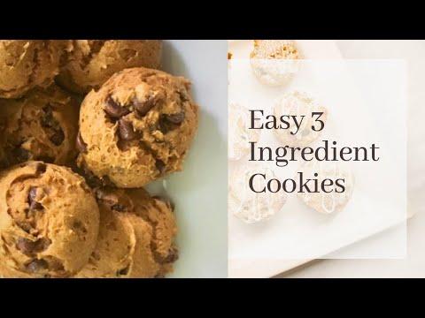 3 Ingredient Pumpkin Chocolate Chip Cookies - SO EASY!  ♡ MissJustinaMarie