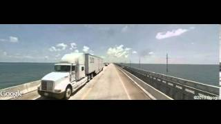 Driving along Overseas Highway, Marathon, FL 33050, USA