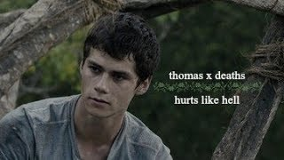 thomas and deaths || hurts like hell