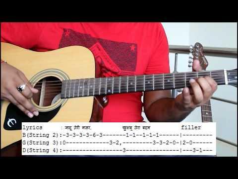 jaadu-teri-nazar-on-guitar|-easy-guitar-lesson-|-guitar-tabs