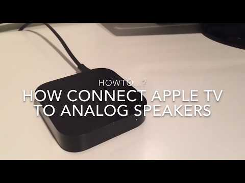 How to connect Apple TV to analog speakers