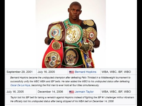 The Last REAL UNDISPUTED Champions  WBO Added 2006