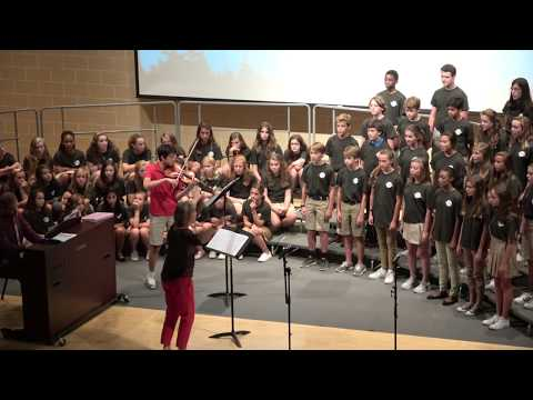 Something Wild, Westminster Middle School Choir, with Toby Liu, violin