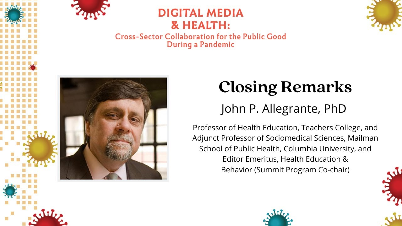 Ending remarks with John Allegrante