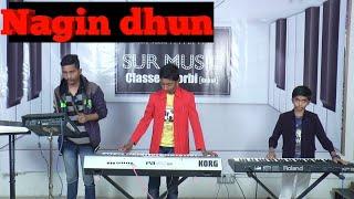 Nagin been music Key board piano{organ } playing by parth & meet | sur music classes morbi
