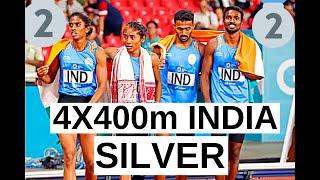 4X400m 🇮🇳INDIA🇮🇳 🥈WINS🥈SILVER | Asian Athletics Championship  2019
