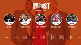 First Things First audio podcast(2.5.19) Cris Carter, Nick Wright, Jenna Wolfe | FIRST THINGS FIRST