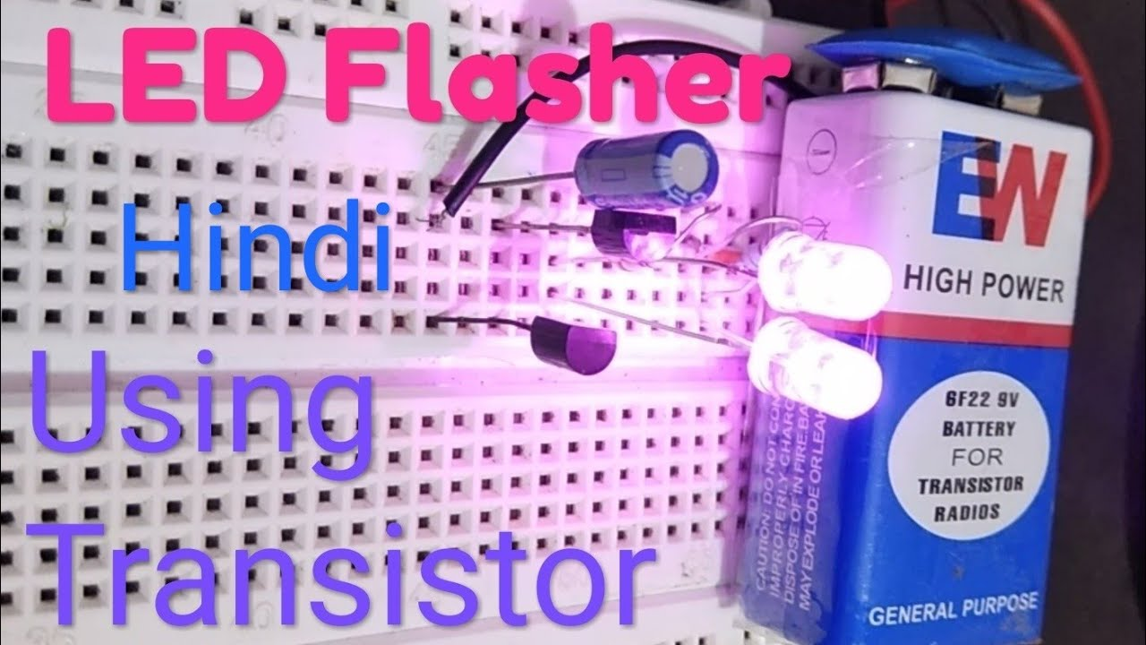 Led Flasher Using Transistor By Manmohan Pal Youtube Low Voltage Transistors Circuit Schematic