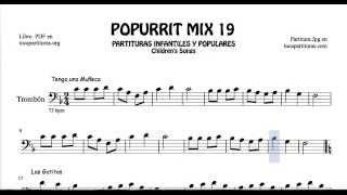 19 de 30 Popurrí Mix Partituras de Trombón de Tengo una muñeca Los Gatitos