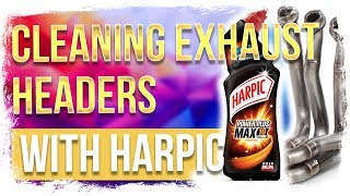 Cleaning motorcycle exhaust headers with HARPIC? DON'T!