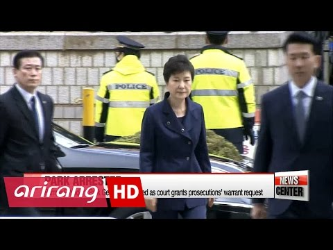 Former President Park Geun-hye arrested as court grants warrant request