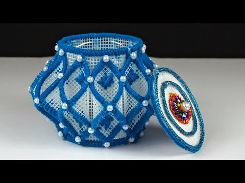 How to Make Plastic Canvas Basket in Simple Way