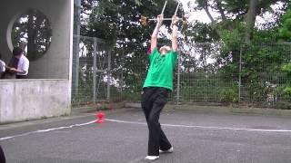 1年生によるフラワースティックの演技です。湘南高校アルコーブにて。