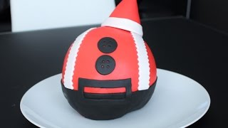 Santa Claus Cake (Christmas Ball Shaped) | Mac B Bakes The Cakes