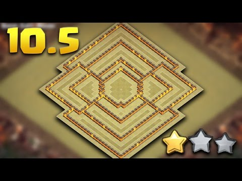 Town Hall 10.5 Anti Air War Base | TH10.5 (TH11 Extra Walls) Defense/Push Base | Clash Of Clans