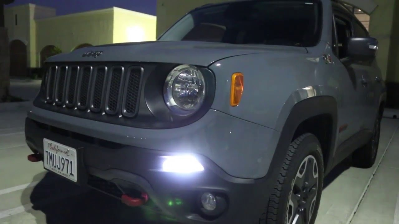 Ijdmtoy jeep renegade led daytime running light installation and