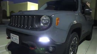 iJDMTOY Jeep Renegade LED Daytime Running Light Installation and Demo
