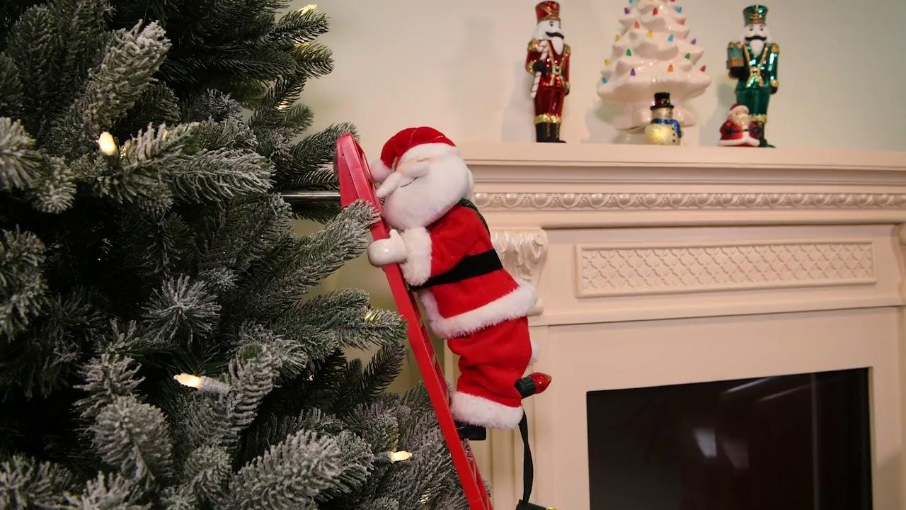 Wondershop Animated Climbing Santa Youtube