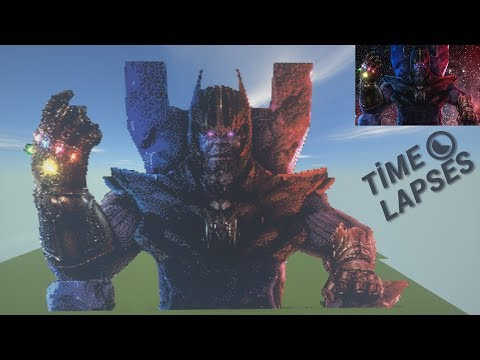 Minecraft Pixel Art Timelapse Thanos 2 0 39 200 Blocks 81 Different Blocks