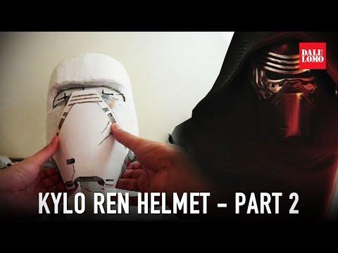 How to make Kylo Ren Helmet Part 2 - Paper Mache & Filler   DIY Costume