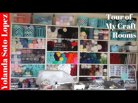 🔴Live: Tour Of My Craft Room (Craft Rooms)