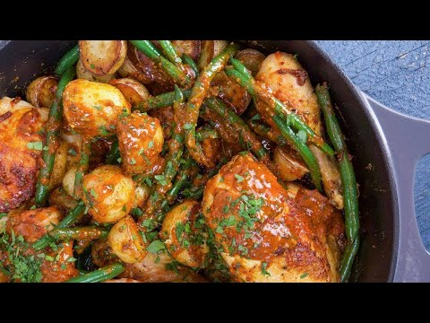 Rachael's Spicy Honey Mustard Chicken With Potatoes And Green Beans