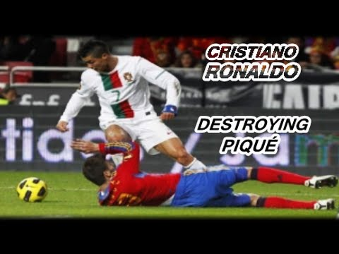 Cristiano Ronaldo Destroying Piqué