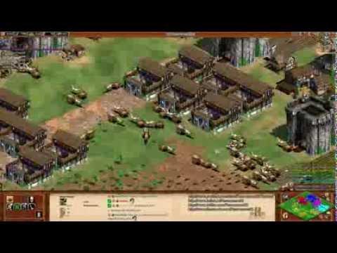 Aoe2 HD: 4v4 Black Forest (Celts, Trash War) (Part 2/2)
