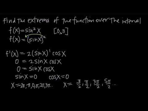 Maxima And Minima On A CLOSED Interval (KristaKingMath)