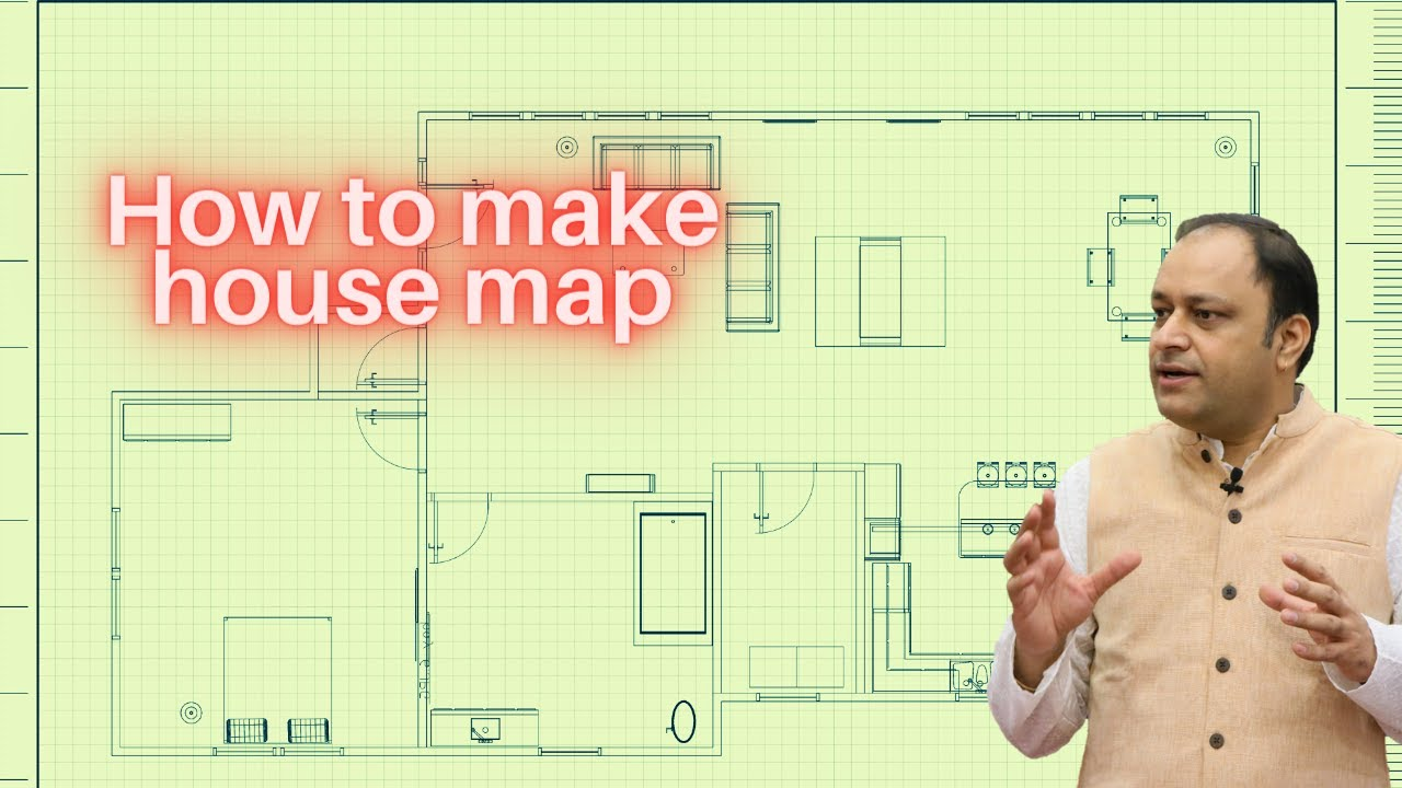 How to make house map | precautions while making to the scale Floor Plan