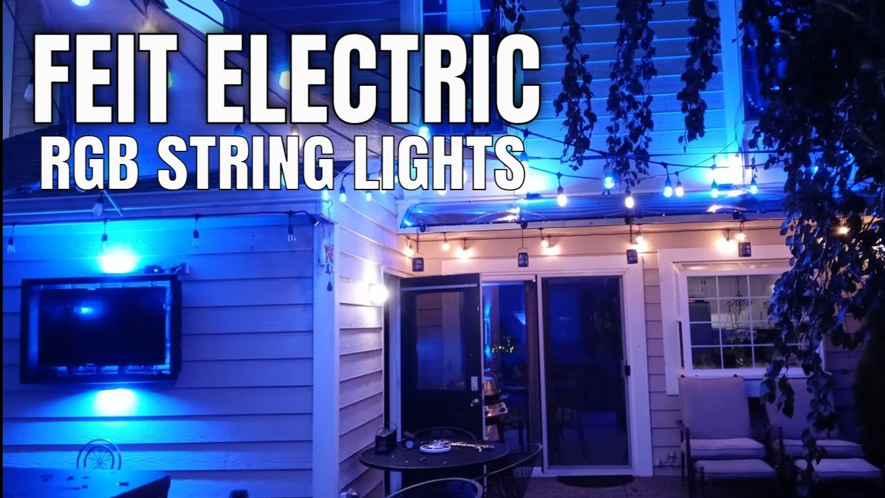 Smart Home Tech Feit Electric Led Outdoor String Lights Youtube