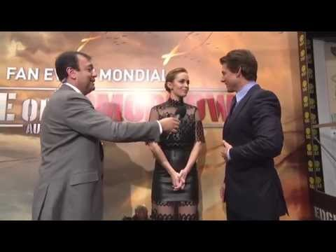 Edge of Tomorrow: Tom Cruise & Emily Blunt Paris Movie Premiere Interview