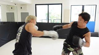 K-1現役チャンピオンとキックボクシングでスパーリングしてみた