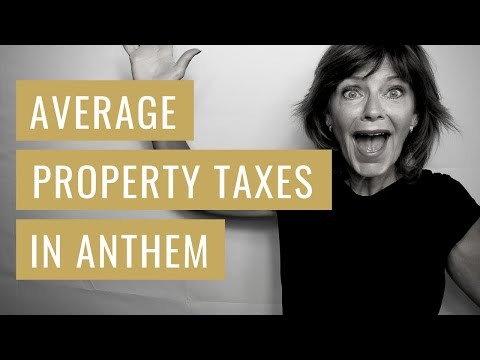What Are The Average Property Taxes In Anthem Wise Move Az