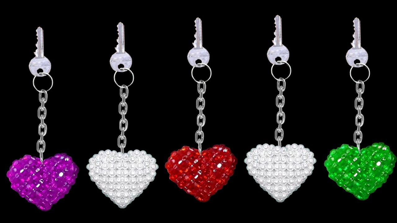 How To Make Crystal Beads Keychains At Home  9f5c6bcba