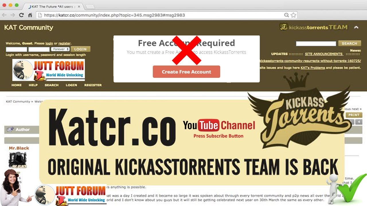 how to download from kickass without account