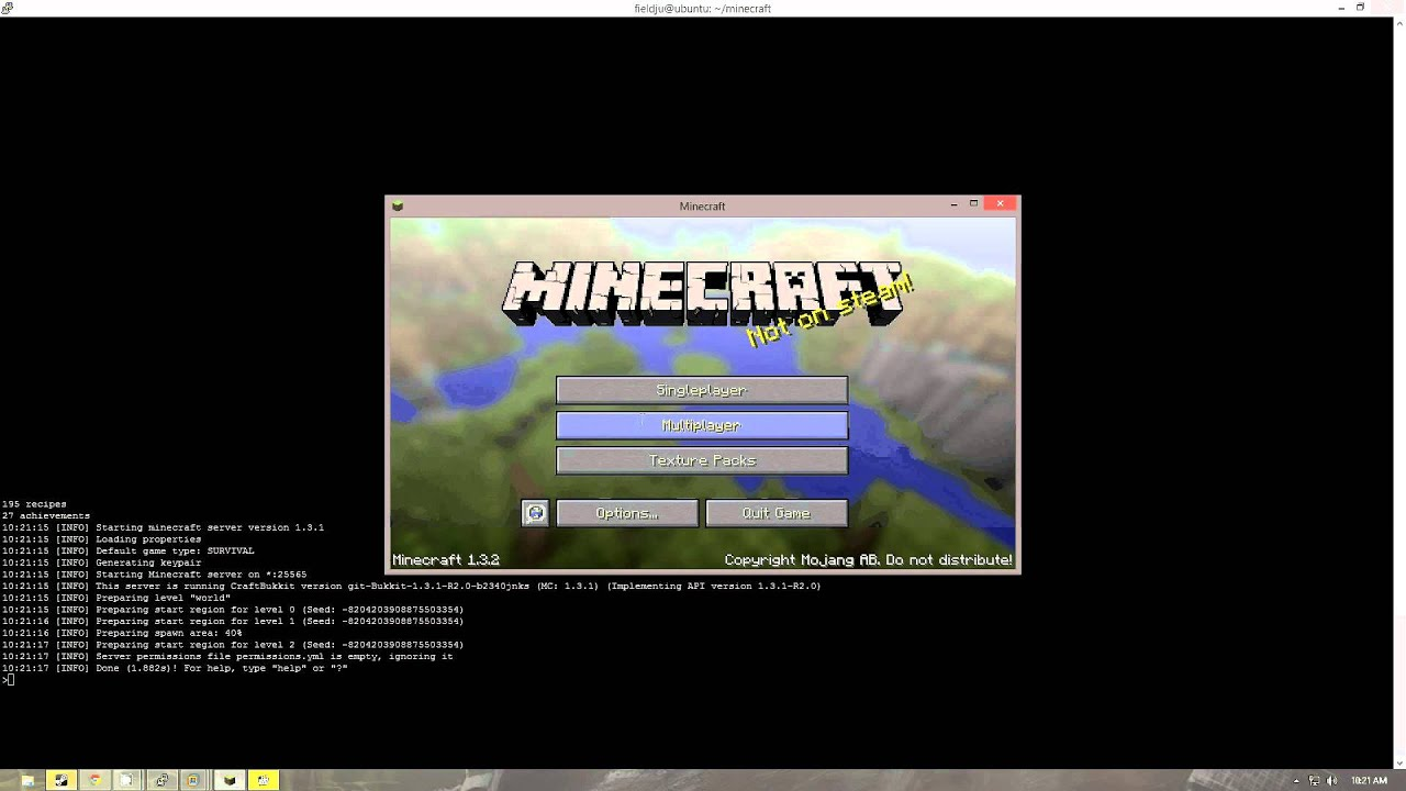 Installing A Craftbukkit Minecraft Server In A Linux Terminal - Minecraft server erstellen linux ubuntu