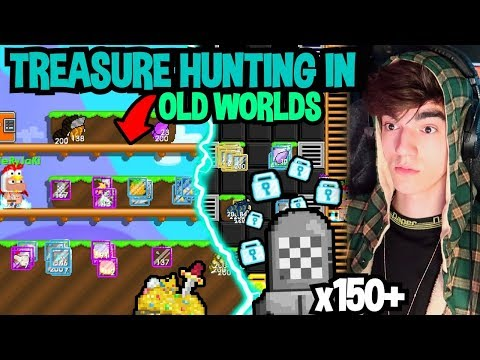 TREASURE HUNTING EXPENSIVE ITEMS IN OLD WORLDS!! | Growtopia
